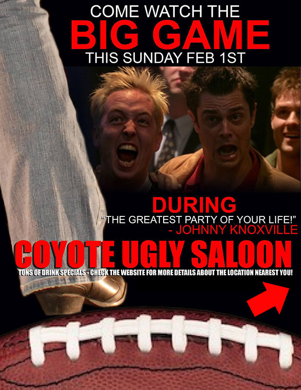 Watch the Super Bowl @ Coyote Ugly