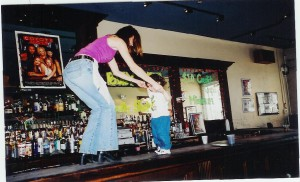 12 years ago Jackson dancing on the New Orleans bar.