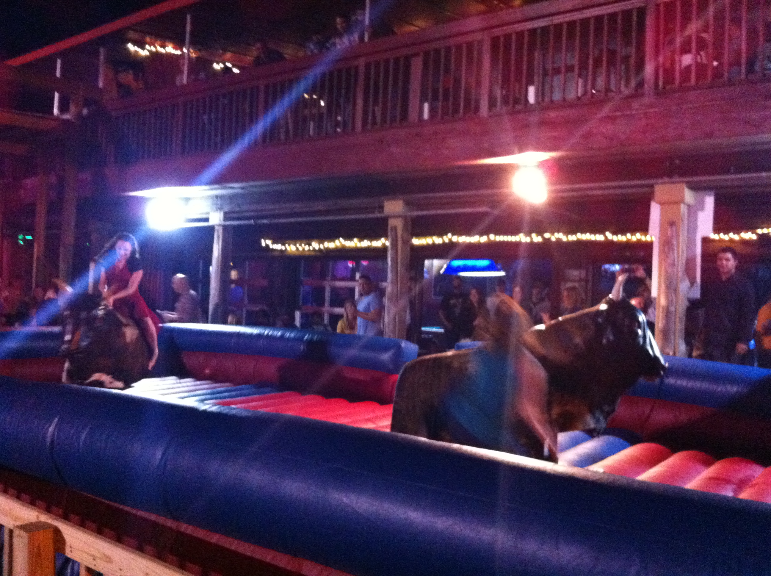 Coyote Ugly Saloon Ugly Pix Mechanical Bull Riding