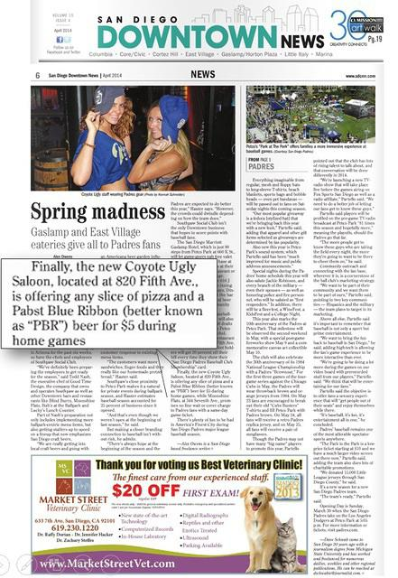 San Diego Downtown News, April 2014