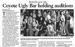 Coyote Ugly Bar Holding Auditions - pg 1
