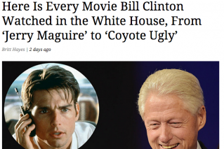 Every Movie Bill Clinton Watched in the White House