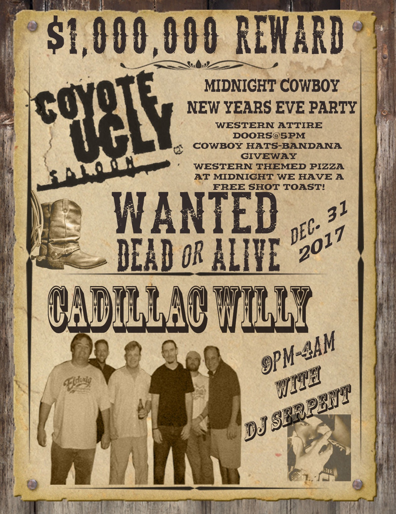 Midnight Cowboy New Year's Eve Party – Coyote Ugly Saloon