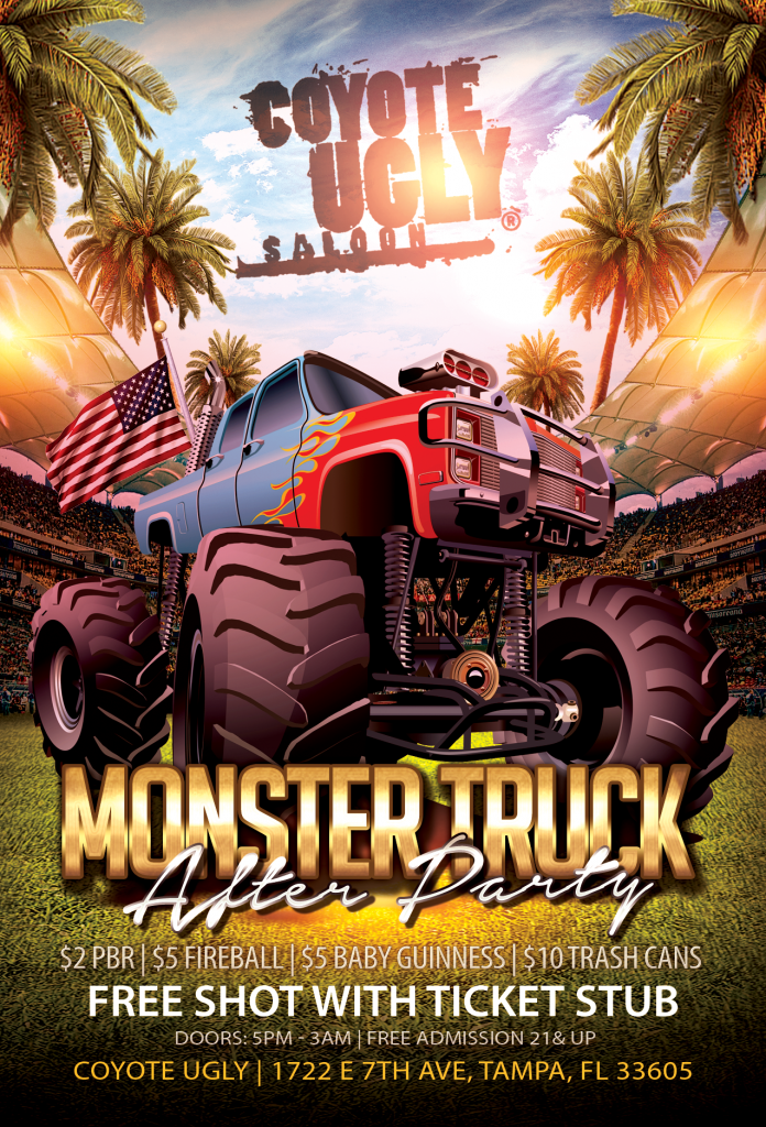 Monster Truck After Party in Tampa on January 13, 2018