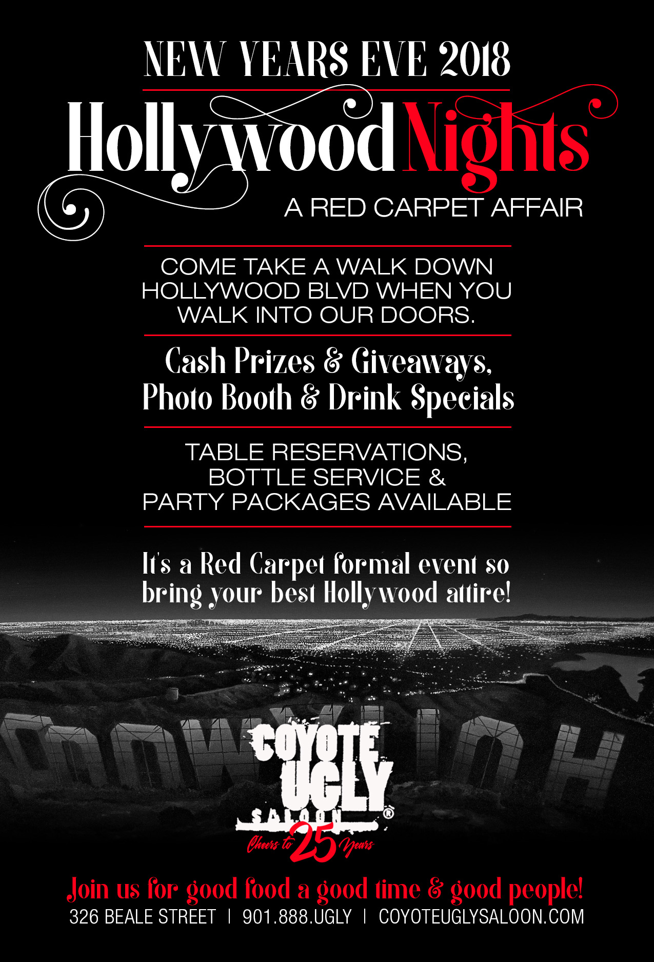 New Year's Eve – Hollywood Nights in Memphis on December 31, 2018