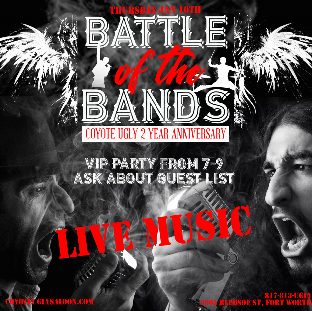 2 Year Anniversary – Battle of the Band in Fort Worth on January 10, 2019