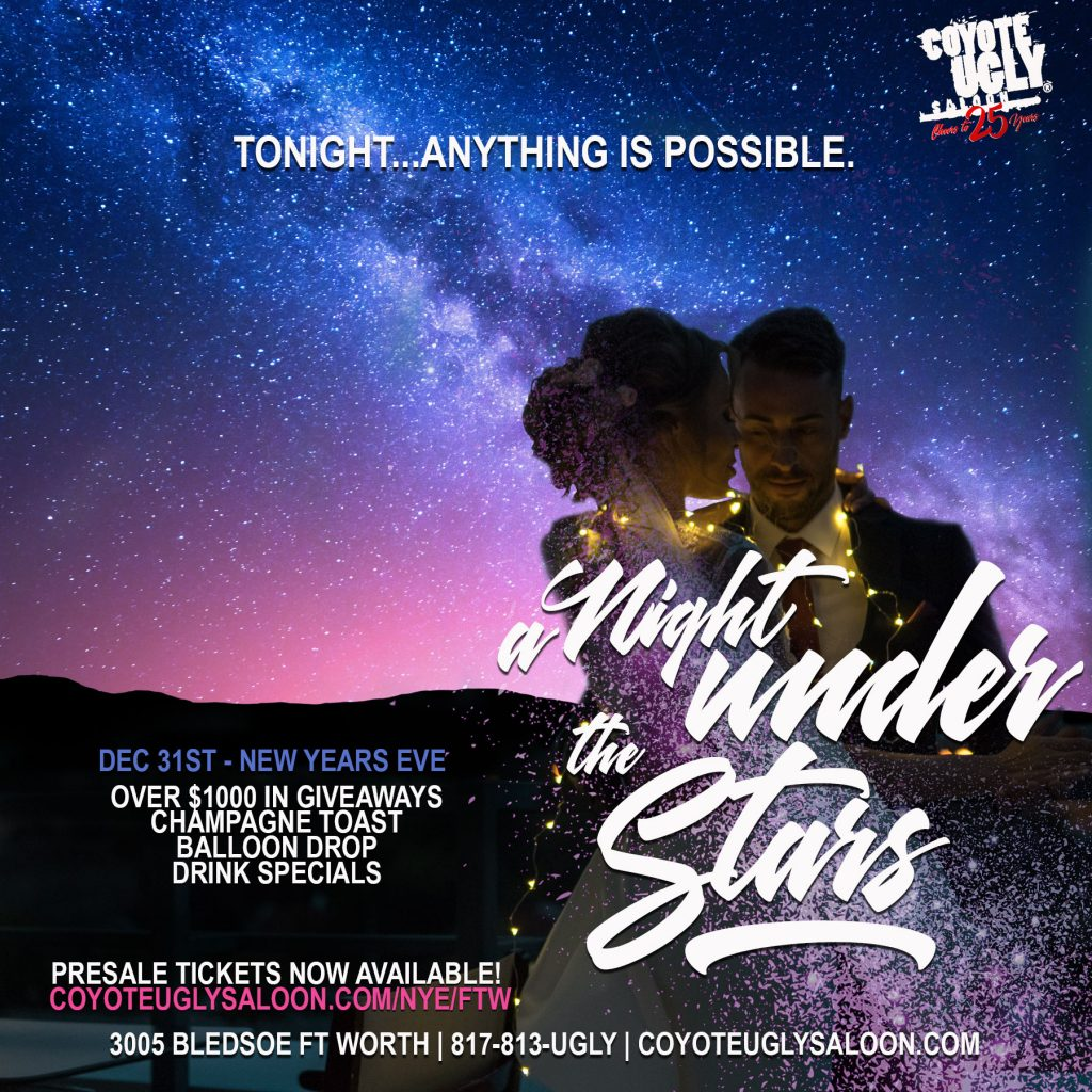New Year's Eve – A Night Under the Stars in Fort Worth on December 31, 2018