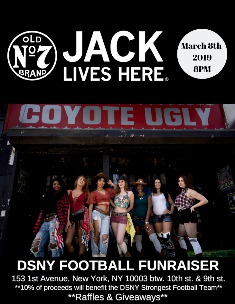 DSNY Football Fundraiser in New York City on March 8, 2019