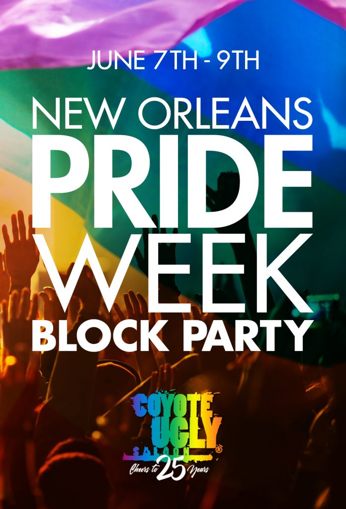 Pride Week Block Party in New Orleans on June 7, 2019 - June 9, 2019
