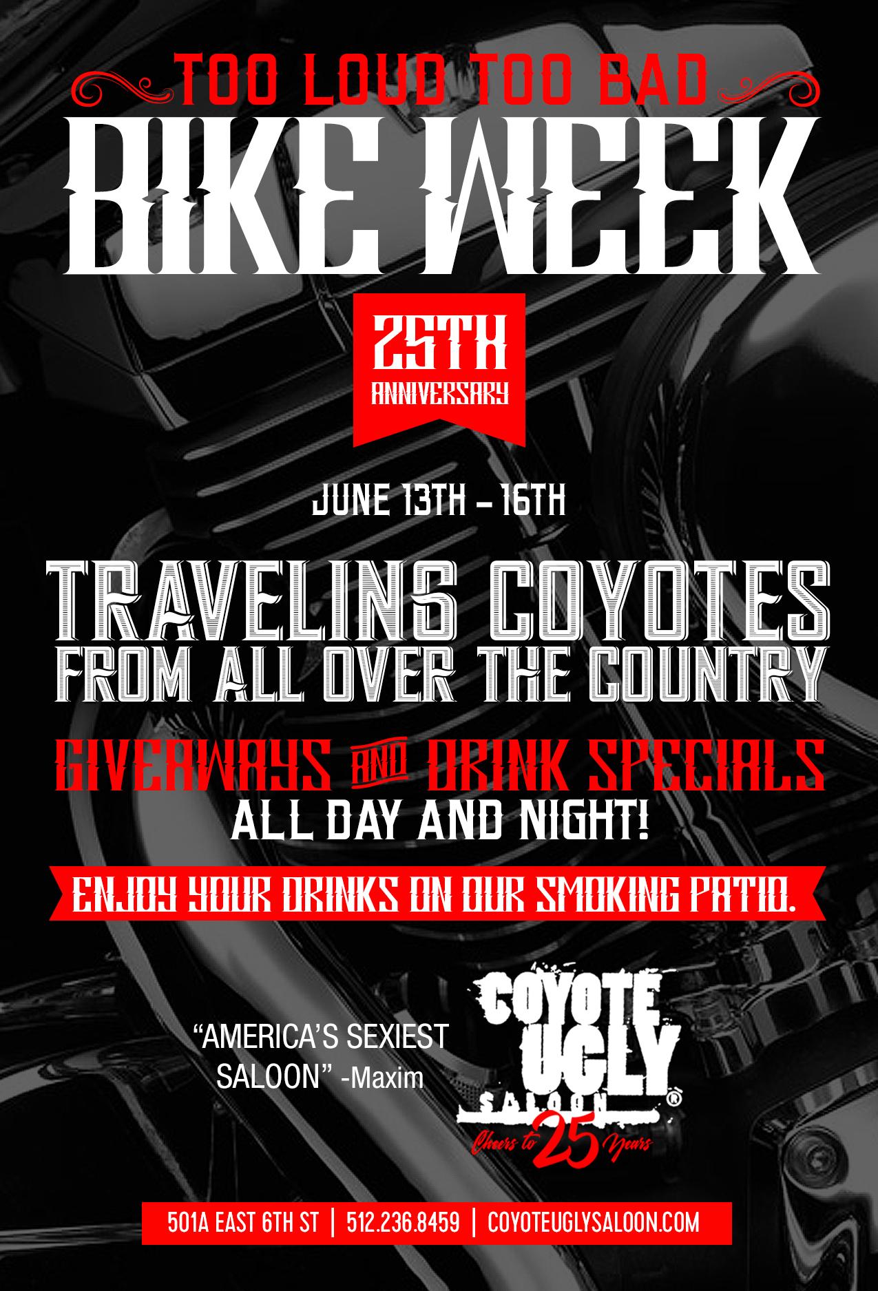 Bike Week 25th Anniversary in Austin on June 13, 2019 - June 16, 2019