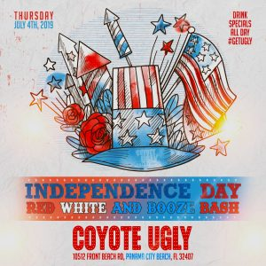 Red, White, and Booze Independence Day Celebration in Panama City Beach on July 4, 2019