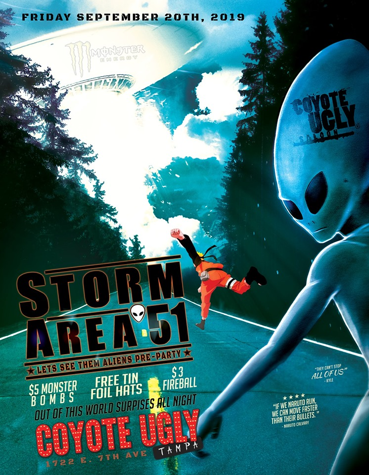 Storm Area 51 Pre-Party in Tampa on September 20, 2019