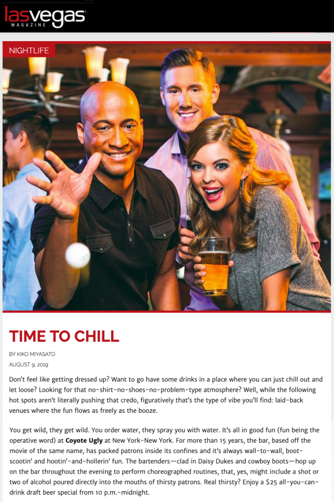 Las Vegas Mag - Time to Chill