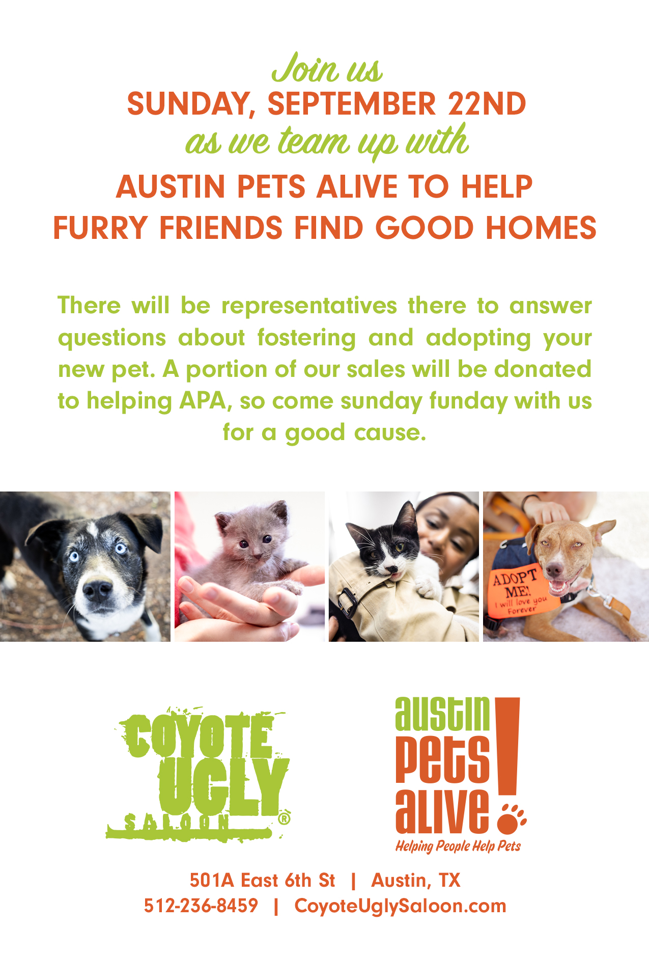 Helping Furry Friends in Austin on September 22, 2019