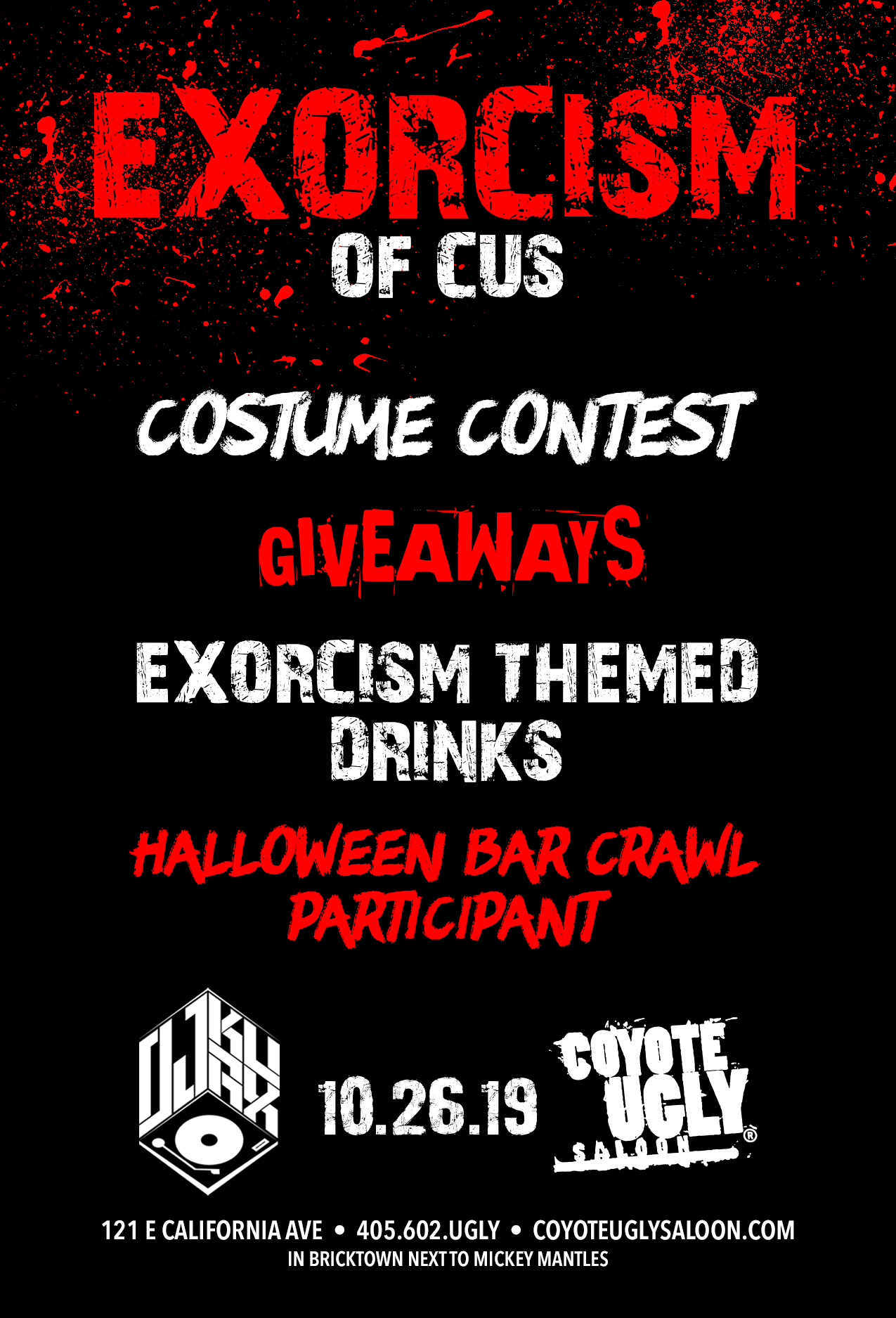 Exorcism of CUS in Oklahoma City on October 26, 2019