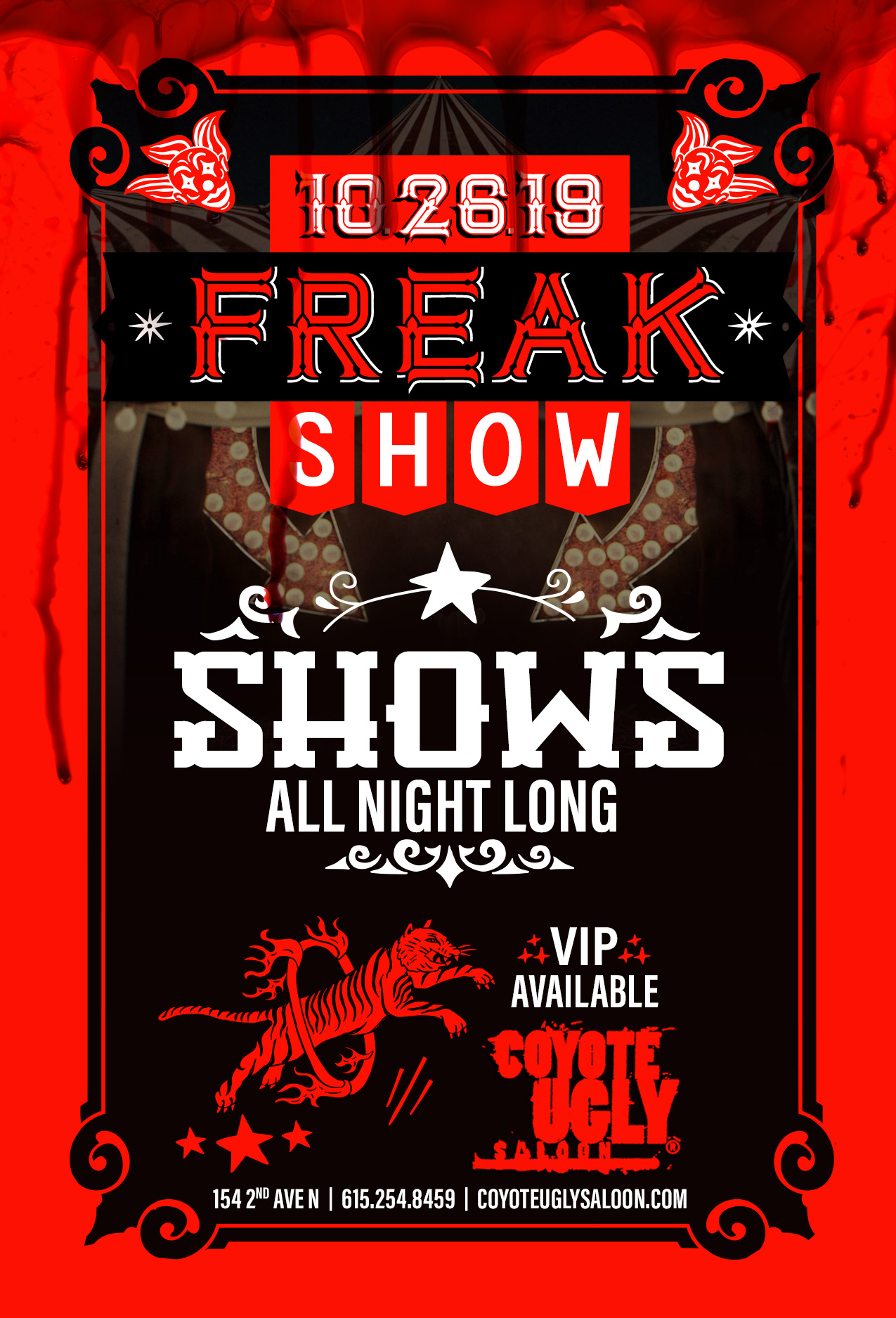 Freak Show in Nashville on October 26, 2019