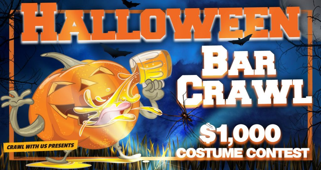 Halloween Bar Crawl in Tampa on October 26, 2019
