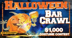 Halloween Bar Crawl in Tampa on October 26, 2019