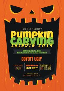Pumpkin Carving Shindig in Destin on October 23, 2019