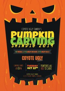 Pumpkin Carving Shindig in Tampa on October 22, 2019