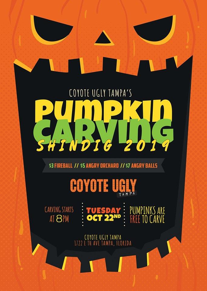 Pumpkin Carving Shindig in Tampa on October 22, 2019