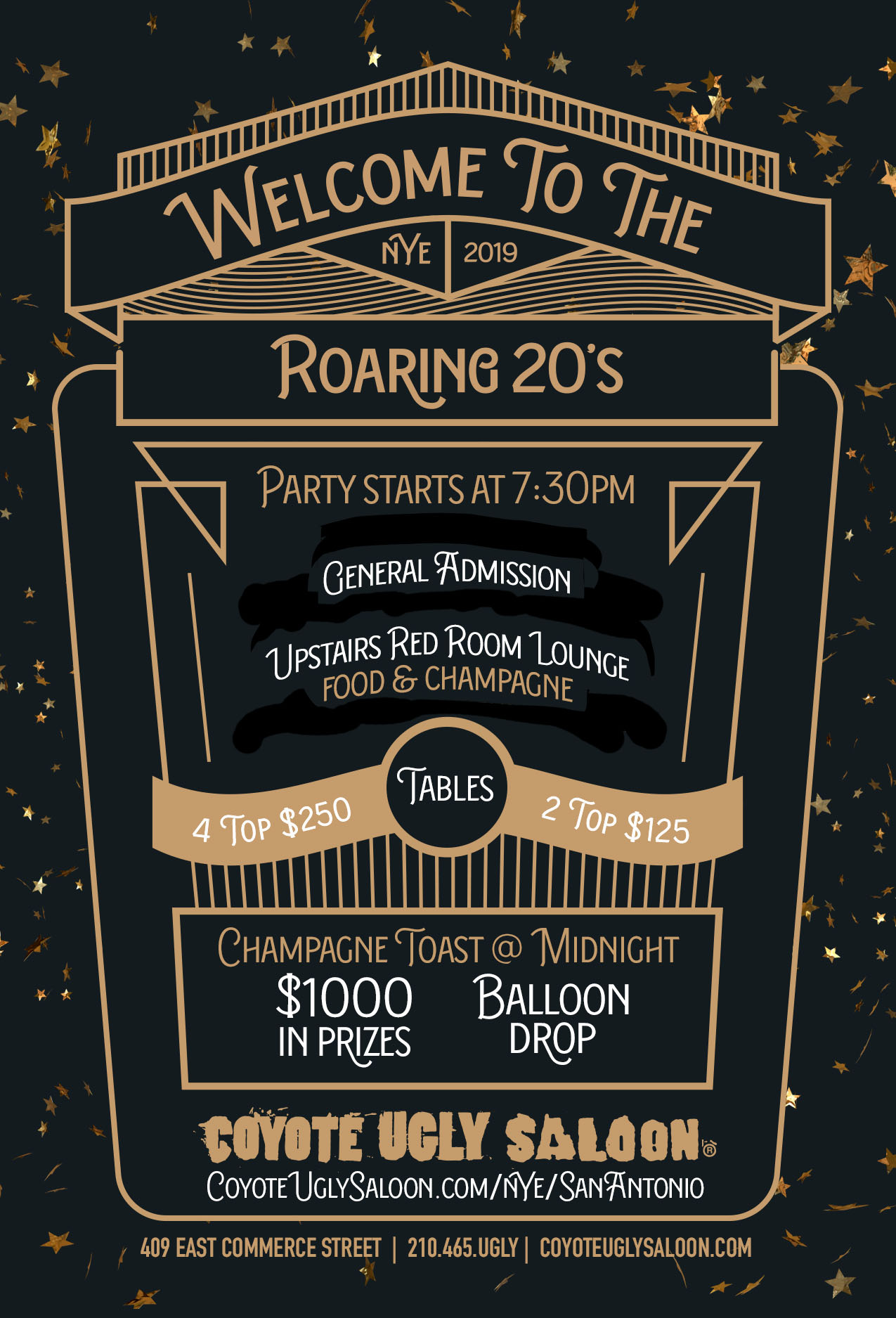 New Year's Eve – Welcome to the Roaring '20s in San Antonio on December 31, 2019