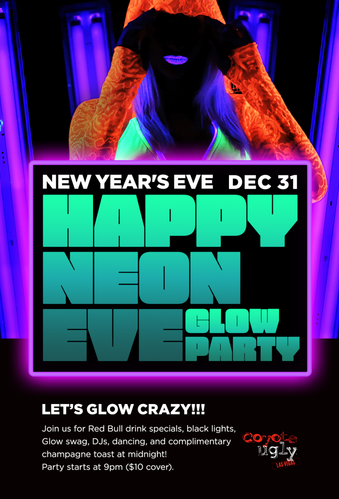 "New Year's Eve – ""Happy Neon Eve"" Glow Party in Las Vegas on December 31, 2019"