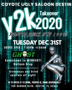 New Year's Eve – Y2K Takeover in Destin on December 31, 2019