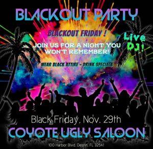 Blackout Friday in Destin on November 29, 2019