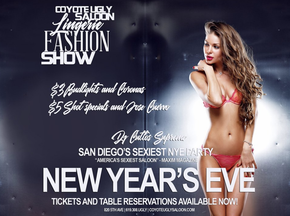 New Year's Eve – Lingerie Fashion Show in San Diego on December 31, 2019
