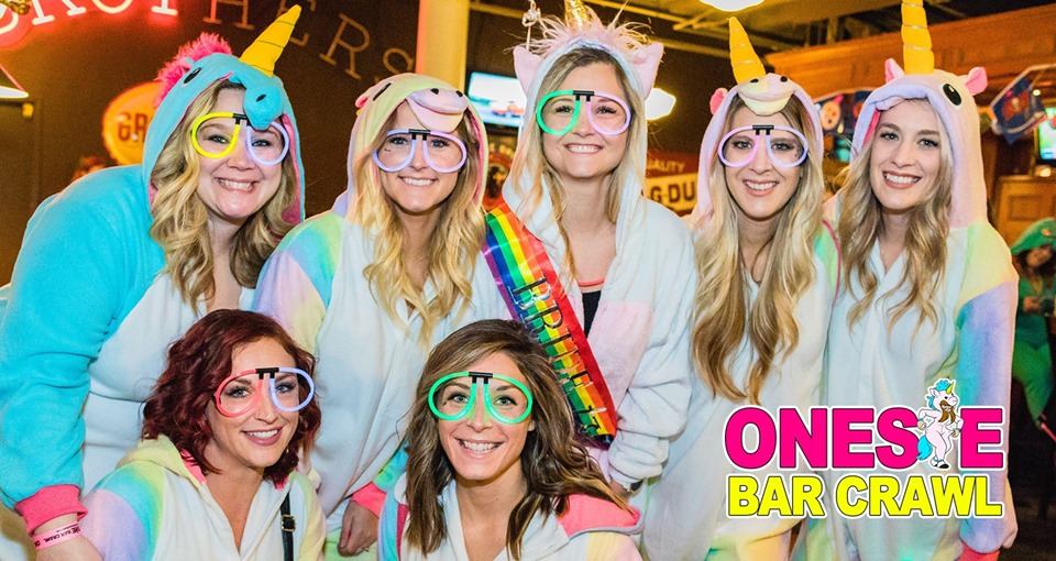 Onesie Bar Crawl in Tampa on January 18, 2020