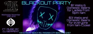 Thanksgiving Eve Blackout Bash in Panama City Beach on November 27, 2019