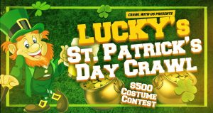 Lucky's St. Patrick's Day Crawl in Oklahoma City on March 14, 2020