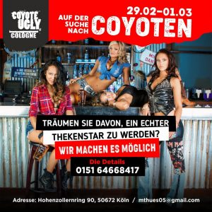Coyote Search in Cologne on February 29, 2020 - March 1, 2020