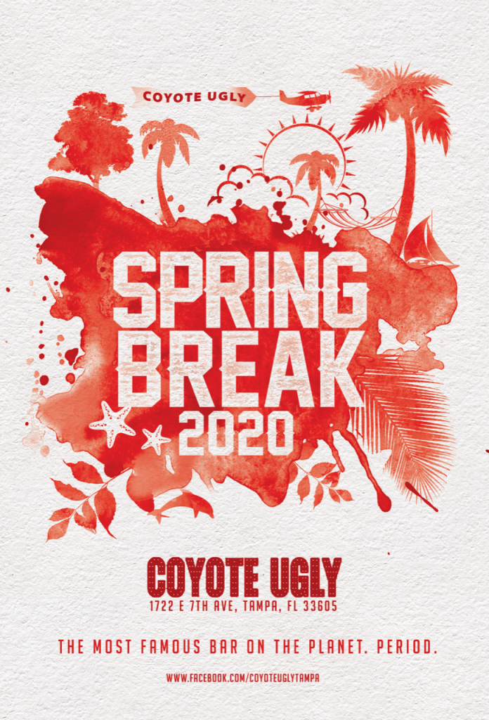 Spring Break in Tampa on March 1, 2020 - March 31, 2020