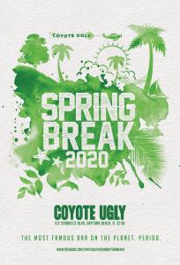 Spring Break in Daytona Beach on March 1, 2020 - March 31, 2020