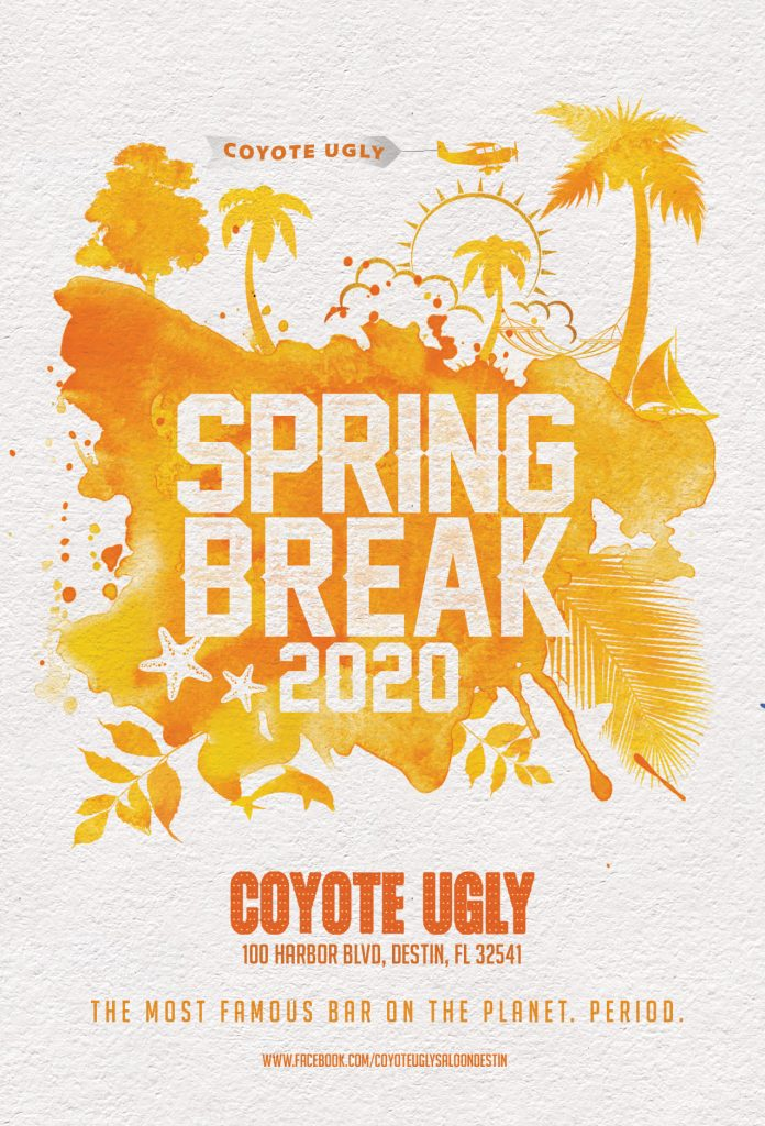 Spring Break in Destin on March 1, 2020 - March 17, 2020