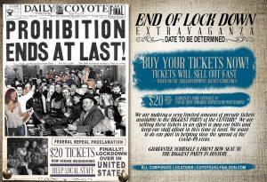 End of Lock Down Extravaganza in Austin, Denver, Memphis, Nashville, New Orleans, New York City, Oklahoma City, San Antonio, San Diego on May 1, 2020