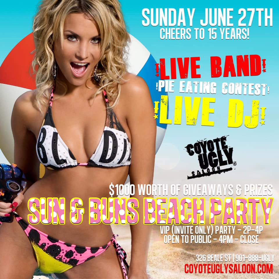 15 Year Anniversary – Sun & Buns Beach Party in Memphis on June 27, 2021