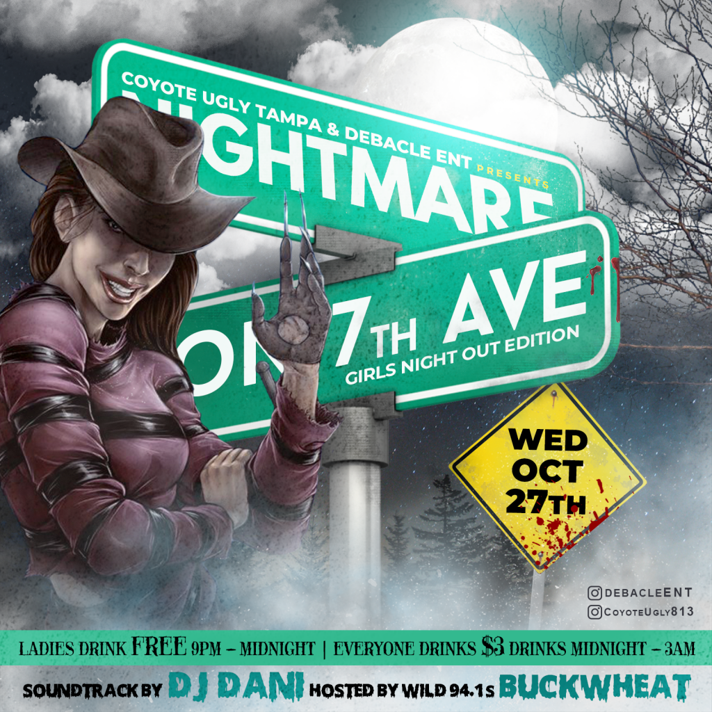 Nightmare on 7th Ave. – Girls Night Out in Tampa on October 27, 2021
