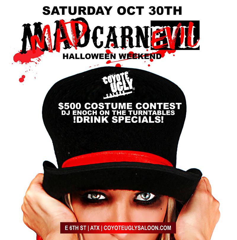Halloween Weekend: Mad CarnEVIL in Austin on October 30, 2021